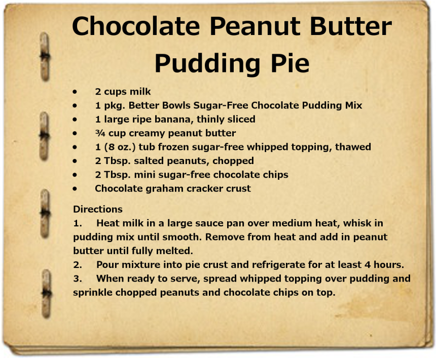 ChocolatePeanutButterPuddingPie