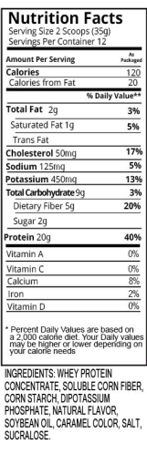 Salted Caramel Shake Nutrition