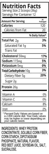 Strawberry Shake Nutrition