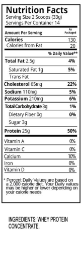 Unflavored Shake Nutrition