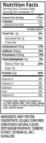 Vanilla Shake Nutrition